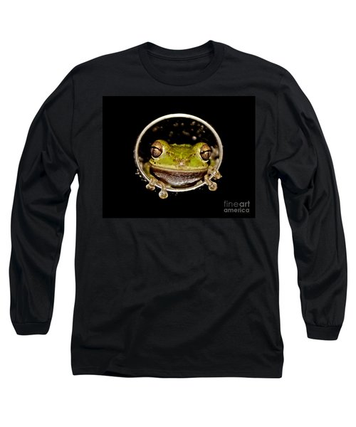 Long Sleeve T-Shirt featuring the photograph Frog by Olga Hamilton