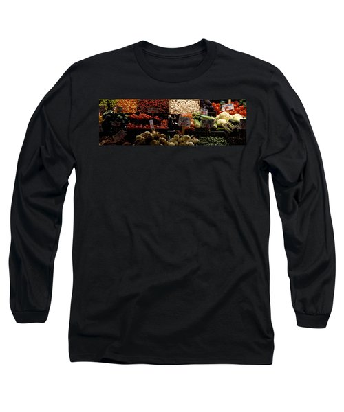 Fruits And Vegetables At A Market Long Sleeve T-Shirt by Panoramic Images