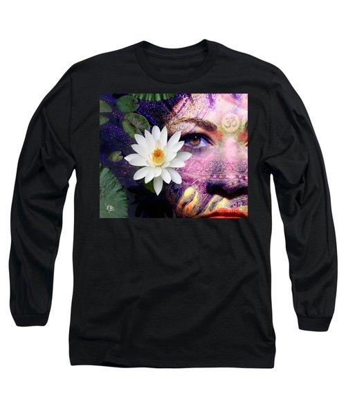 Full Moon Lakshmi Long Sleeve T-Shirt by Christopher Beikmann