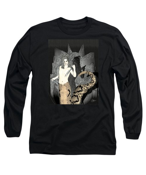 Gorgon Medusa  Long Sleeve T-Shirt by Quim Abella
