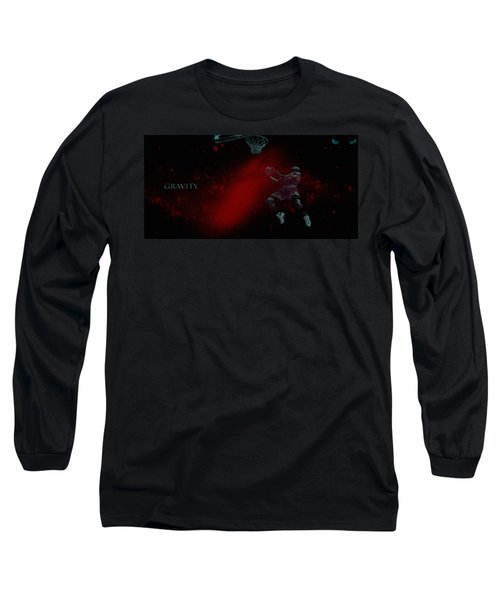 Long Sleeve T-Shirt featuring the mixed media Gravity by Brian Reaves