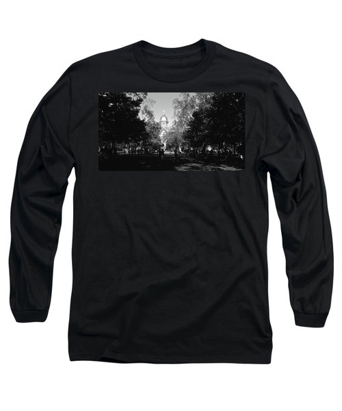 Group Of People At A University Campus Long Sleeve T-Shirt