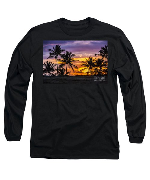 Hawaiian Sunset Long Sleeve T-Shirt by Juli Scalzi