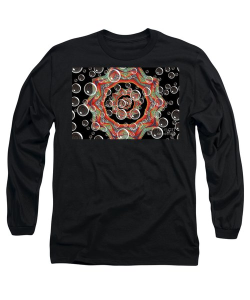 Holiday Card Long Sleeve T-Shirt by Oksana Semenchenko