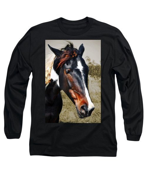Long Sleeve T-Shirt featuring the photograph Horse by Savannah Gibbs