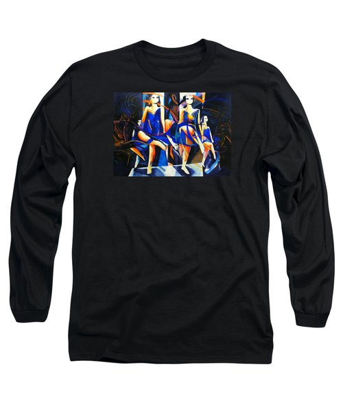Long Sleeve T-Shirt featuring the painting In Time by Georg Douglas