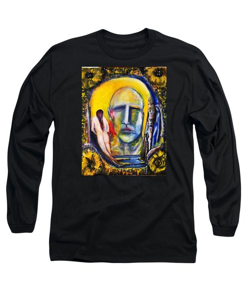 Long Sleeve T-Shirt featuring the painting Inside The Garden  by Kicking Bear  Productions