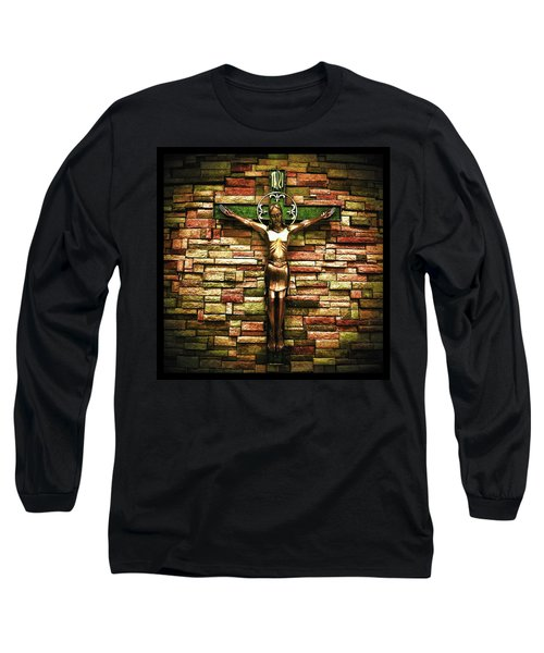Jesus Is His Name Black Border Long Sleeve T-Shirt