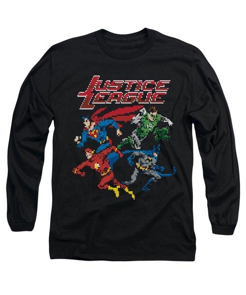 Jla - Pixel League Long Sleeve T-Shirt