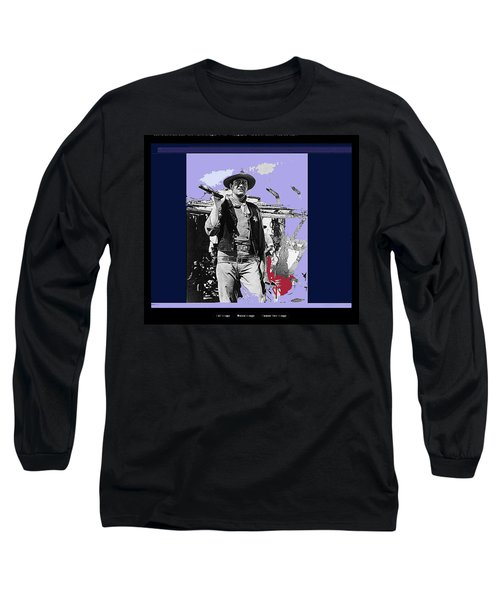 John Wayne Rio Bravo Publicity Photo 1959 Old Tucson Arizona Long Sleeve T-Shirt