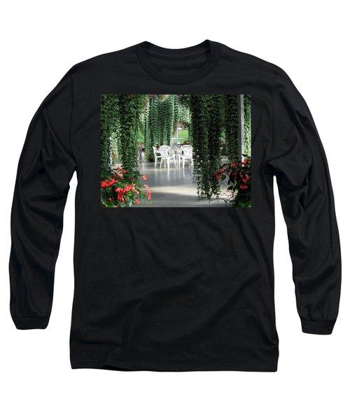 Long Sleeve T-Shirt featuring the photograph Juneau Glacier Gardens by Jennifer Wheatley Wolf