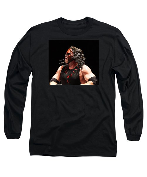 Kane The Wrestler Long Sleeve T-Shirt by Paul  Wilford