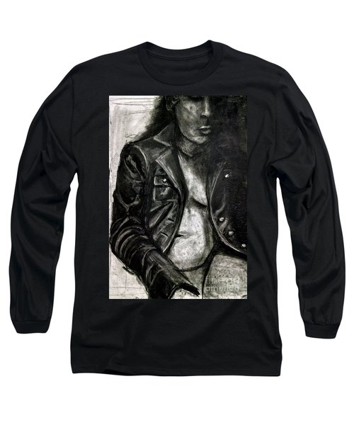 Leather Jacket Long Sleeve T-Shirt