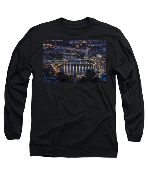 Long Sleeve T-Shirt featuring the photograph Lerez River Pontevedra Galicia Spain by Pablo Avanzini