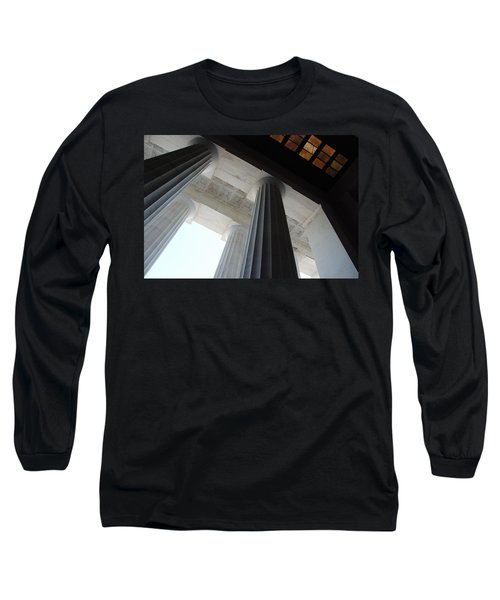 Lincoln Stained Glass And Columns Long Sleeve T-Shirt