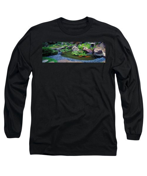 Lotus Blossoms, Japanese Garden Long Sleeve T-Shirt