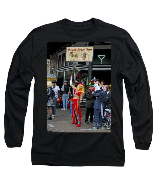 Long Sleeve T-Shirt featuring the photograph French Quarter Mardi Gras by Luana K Perez