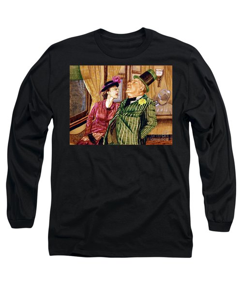 Margaret And W.c. Fields Long Sleeve T-Shirt