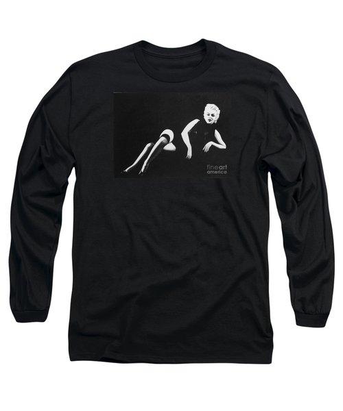 Marilyn Reclining Long Sleeve T-Shirt by Joseph Sonday