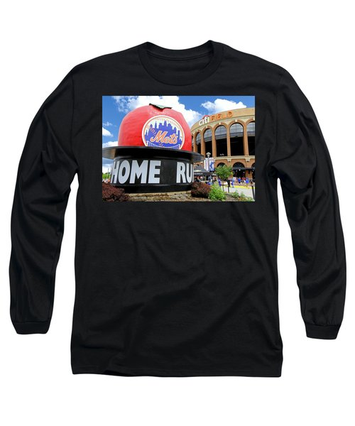 Mets Home Run Apple Long Sleeve T-Shirt