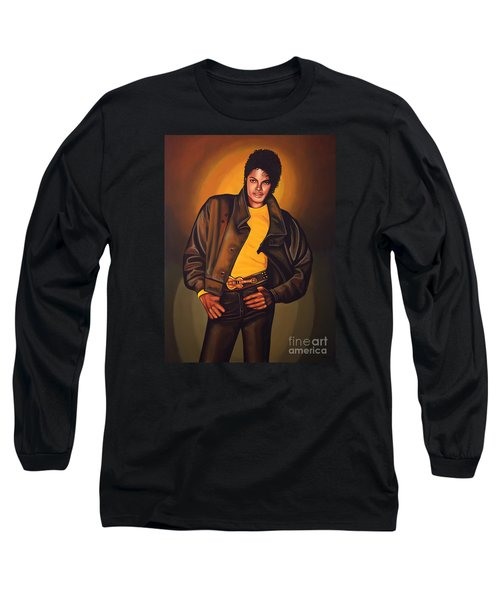 Michael Jackson Long Sleeve T-Shirt by Paul Meijering