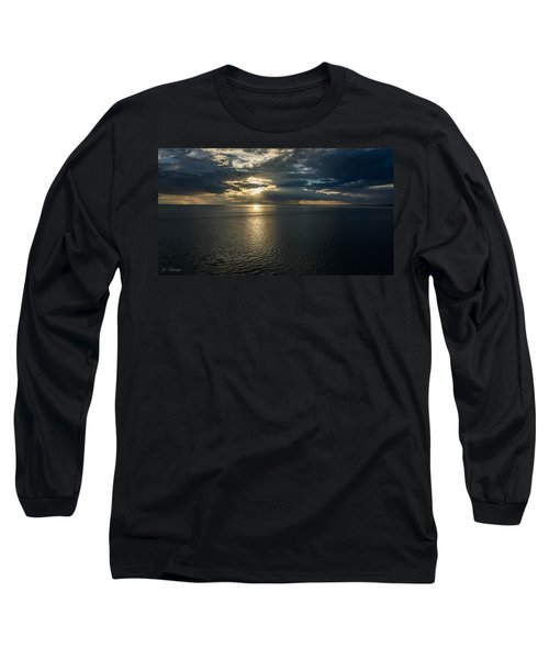 Midnight Sun Over Mount Susitna Long Sleeve T-Shirt
