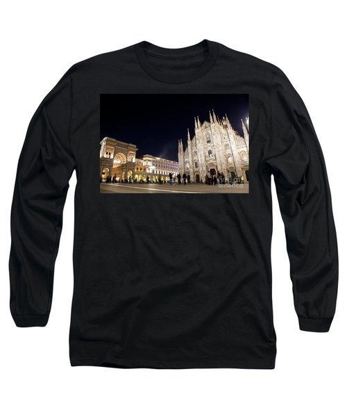 Milan Cathedral Vittorio Emanuele II Gallery Italy Long Sleeve T-Shirt