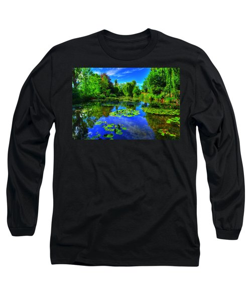 Monet's Lily Pond Long Sleeve T-Shirt
