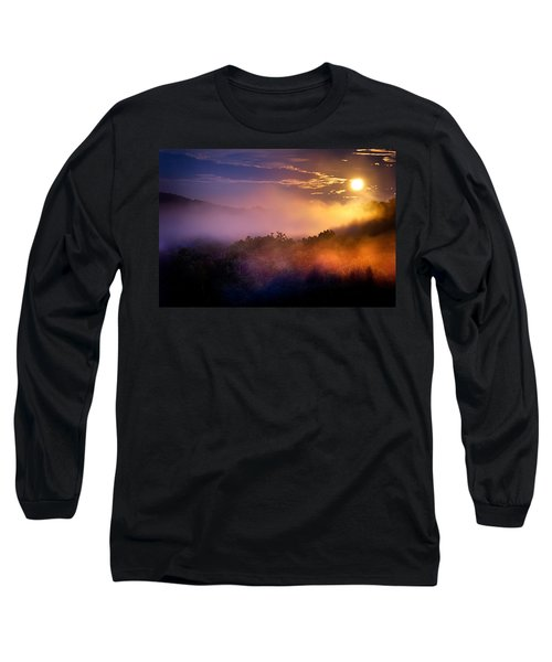Moon Setting In Mist Long Sleeve T-Shirt