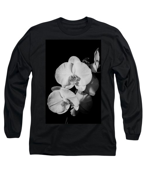 Moth Orchid Bw Long Sleeve T-Shirt