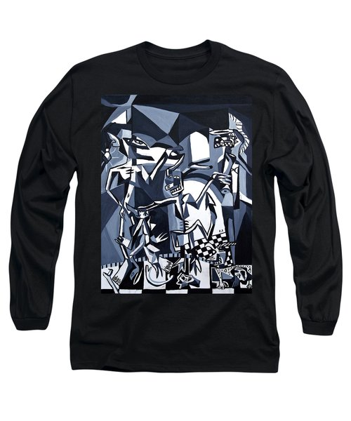 Long Sleeve T-Shirt featuring the painting My Inner Demons by Ryan Demaree