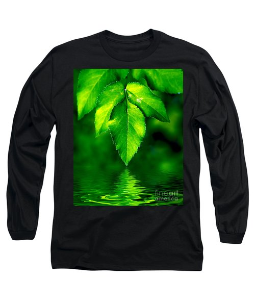 Natural Leaves Background Long Sleeve T-Shirt