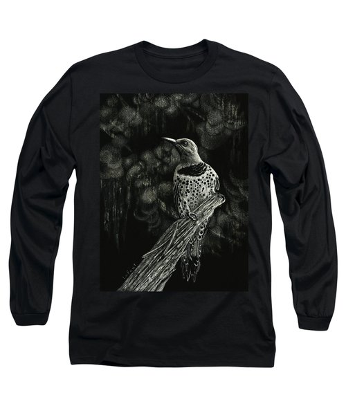 Northern Flicker Long Sleeve T-Shirt by Sandra LaFaut