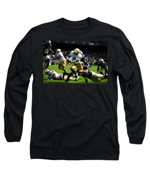 Notre Dame Versus Navy Long Sleeve T-Shirt by Mountain Dreams