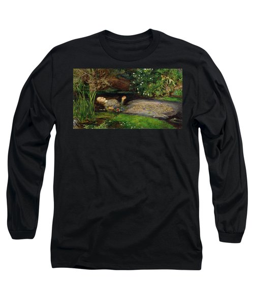 Ophelia Long Sleeve T-Shirt by John Everett Millais