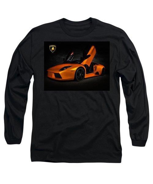 Orange Murcielago Long Sleeve T-Shirt