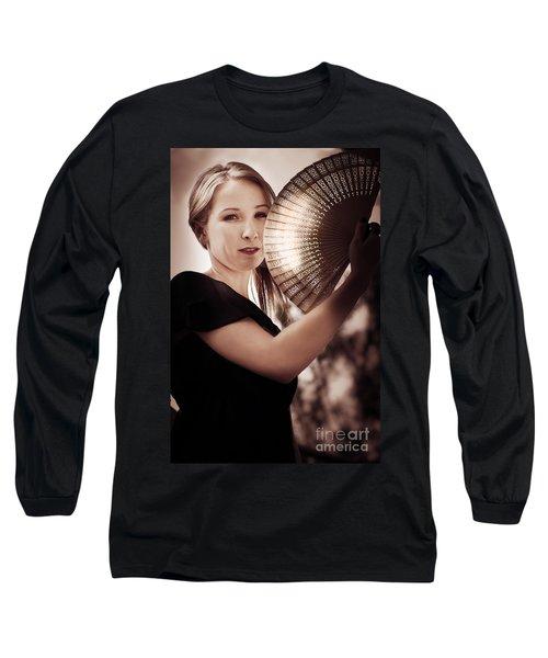 Oriental Fan Woman Long Sleeve T-Shirt