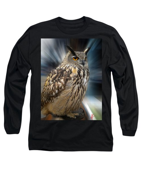 Long Sleeve T-Shirt featuring the photograph Owl Alba Spain  by Colette V Hera  Guggenheim