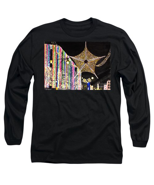 Long Sleeve T-Shirt featuring the painting Oxford Street London 2011 by Carol Flagg