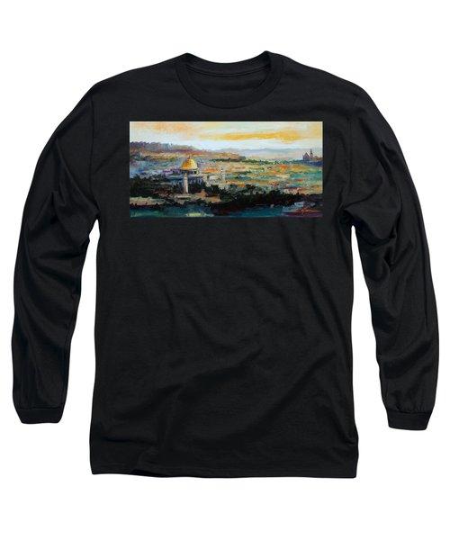 Panorama Of Jerusalem Long Sleeve T-Shirt
