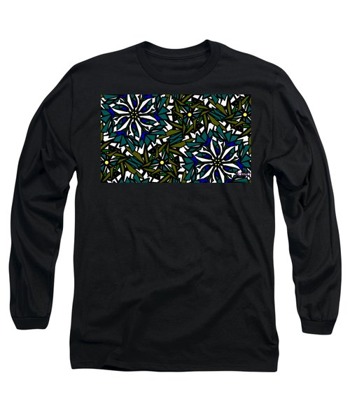 Pin-wheel Flowers Long Sleeve T-Shirt by Elizabeth McTaggart