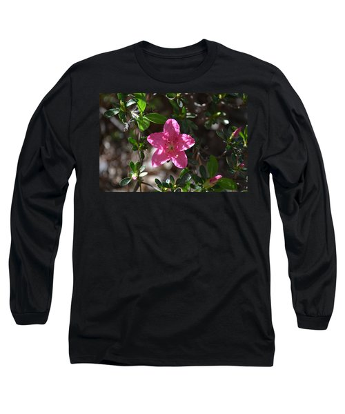 Long Sleeve T-Shirt featuring the photograph Pink Flower by Tara Potts