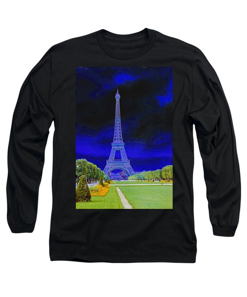 Purple Eiffel Long Sleeve T-Shirt