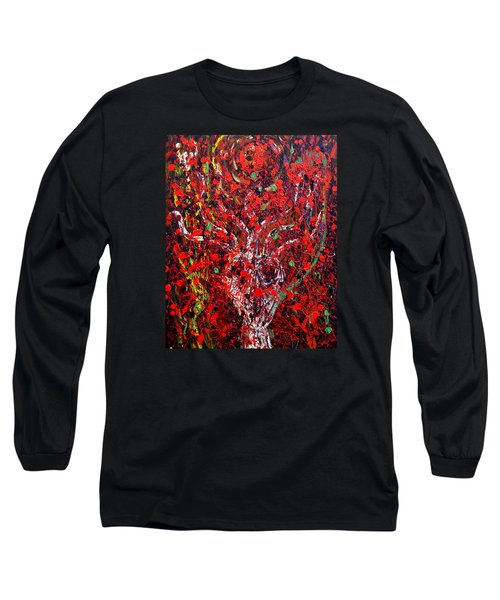 Long Sleeve T-Shirt featuring the painting Recurring Face by Ryan Demaree