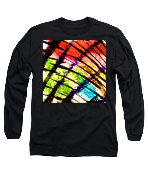 Long Sleeve T-Shirt featuring the painting Red Reach by Joan Reese