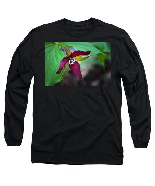 Red Trillium Long Sleeve T-Shirt