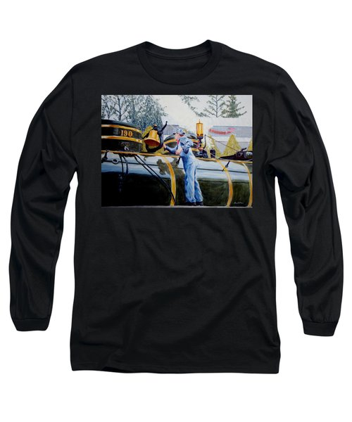 Reflecting On Tweetsie Long Sleeve T-Shirt by Stacy C Bottoms