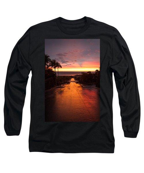Sunset After Rain Long Sleeve T-Shirt by Denise Bird