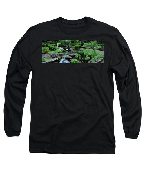 River Flowing Through A Forest Long Sleeve T-Shirt