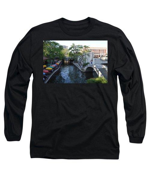 Long Sleeve T-Shirt featuring the photograph Sa River Walk 2 by Shawn Marlow
